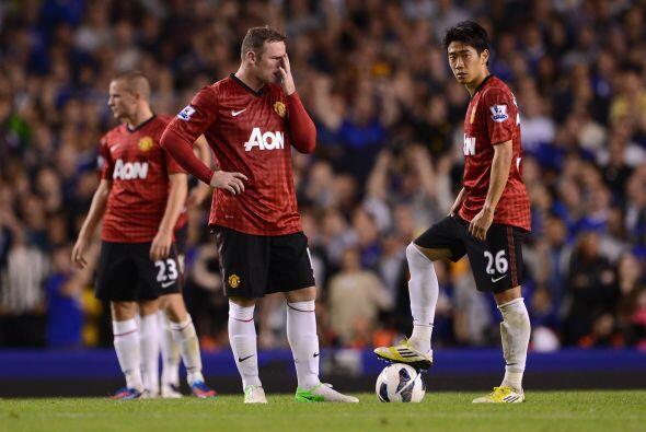 Caras largas entre todos los jugadores del United.