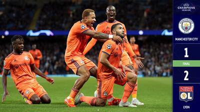 Sorpresa mayúscula: el Lyon derrotó al Manchester City… y en Inglaterra