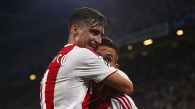 En fotos: el poder de Ajax para dar un gran paso a la fase de grupos de la Champions