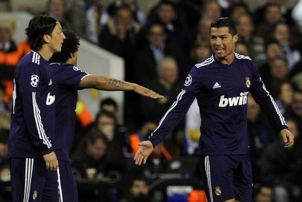 El festejo de CR7. El portugués sigue siendo la gran figura del Madrid.
