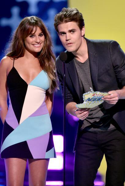 Lea Michele y Paul Wesley