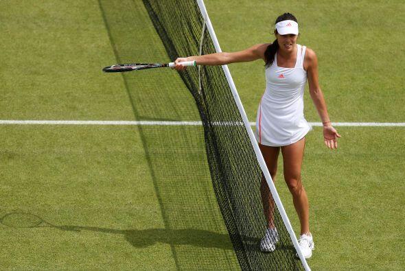 Aunque ganó la primera ronda, no la tuvo fácil consiguiendo la victoria...