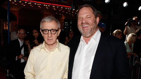 Woody Allen y Harvey Weinstein en 2008