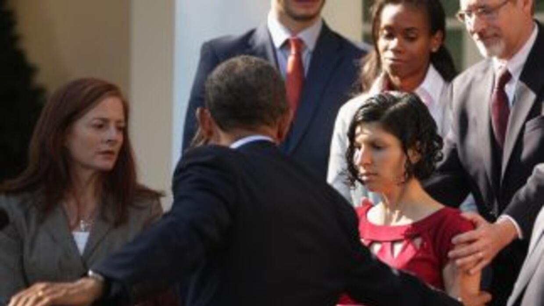El presidente, que no estaba mirando hacia atrás, se dio cuenta de lo qu...