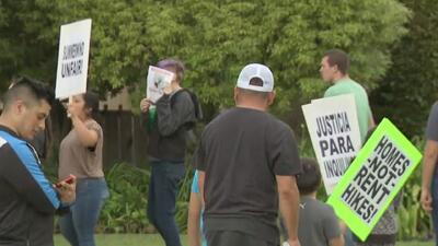 Protesta de inquilinos afectados por un incendio en San José
