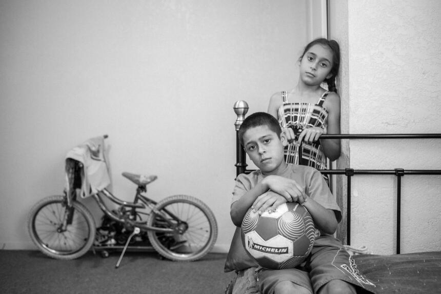 Luis, de 11 años, desea poder trabajar para alimentar a su familia.