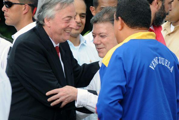 El ex mandatario argentino Néstor Kirchner en su calidad de presidente d...