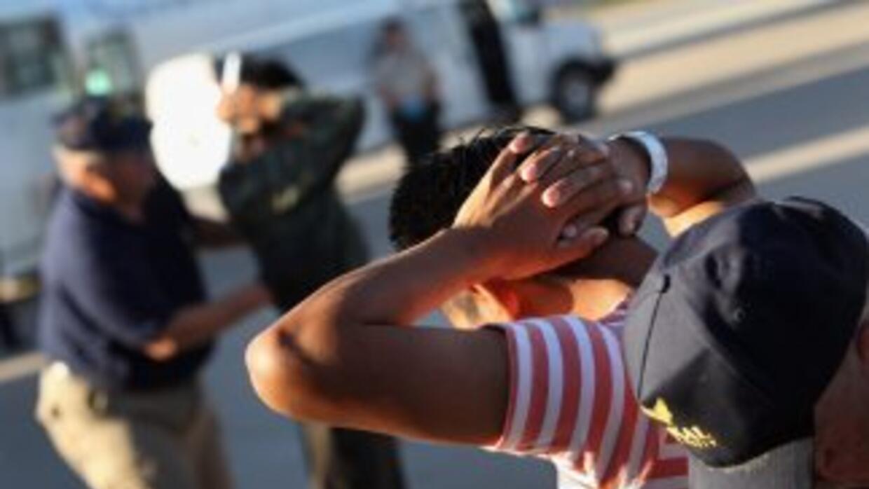 Inmigrantes centroamericanos deportados de Estados Unidos.
