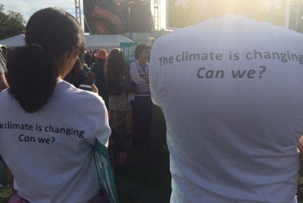 """""""El clima está cambiando. ¿Podemos cambiar nosotros?"""" (Foto por José Áng..."""