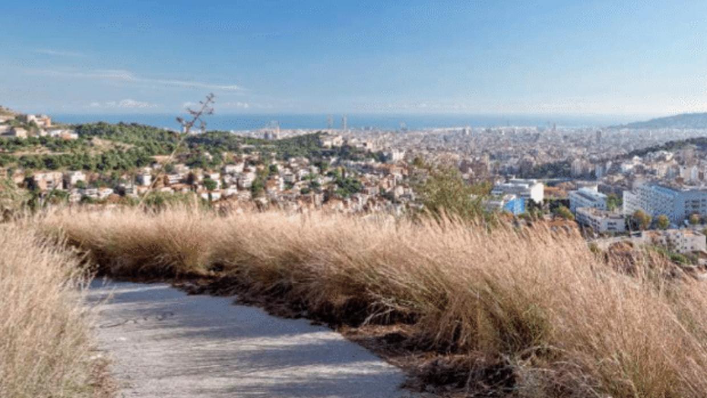 La vista desde el Parc dels Tres Turons, el cual se encuentra en las col...