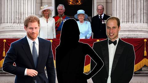 príncipes Harry y William de Inglaterra