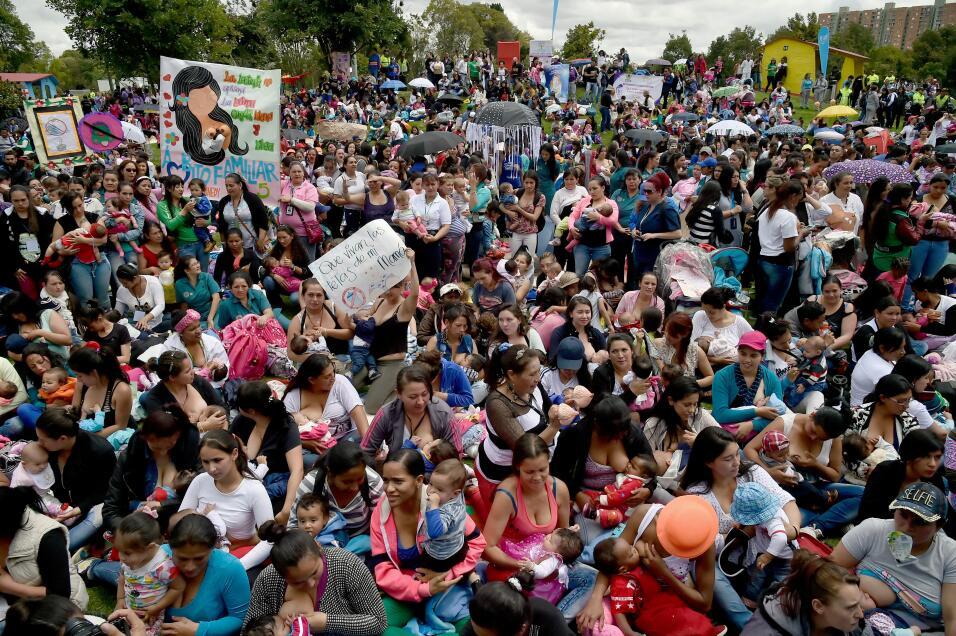 En Colombia la Semana Mundial de la Lactancia fue una fiesta.