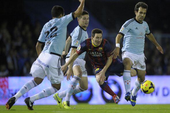 El Barcelona, con Lionel Messi entre los titulares, visitó Vigo p...