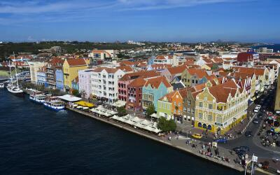 Willemstad, la capital de Curazao.