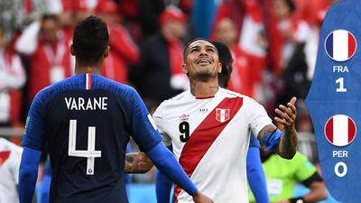 Perú pierde 1-0 con Francia y se convierte en la primera selección latina eliminada de Rusia