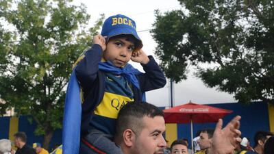 Así despidió la afición de Boca Juniors a su equipo previo a la Final con River Plate