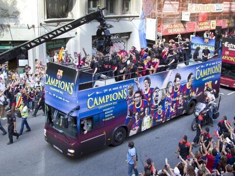 El Barcelona, tras ganar la Champions League ante el Manchester United,...