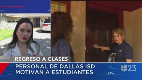Miembros del Distrito Escolar Independiente de Dallas motivan a estudian...