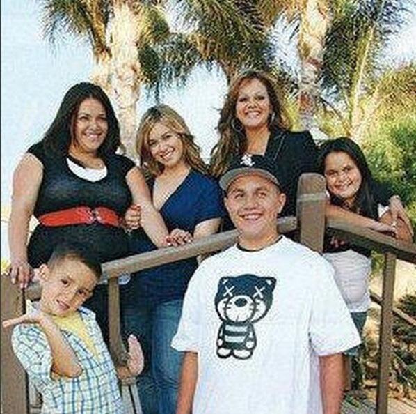 Jenni Rivera y su familia