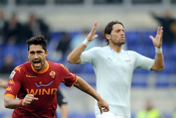 Se marcó penalti en favor de los visitantes y Marco Borriello fue el eje...