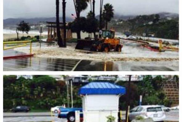 Playas cerradas por alto oleaje y contaminación también formaron parte...