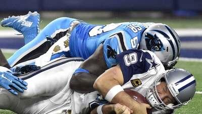 Tony Romo se volvió a lesionar la clavícula seriamente ante los Panthers