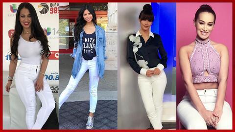 Jeans Blancos - Famosas
