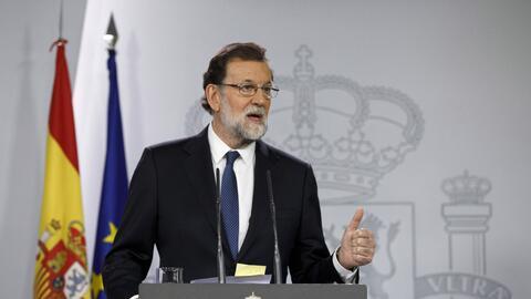 El presidente del Gobierno español, Mariano Rajoy, anunció...