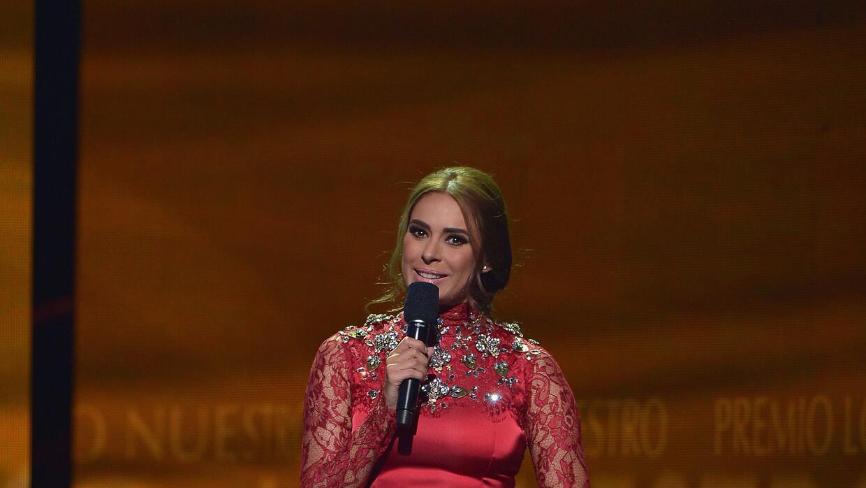 Galilea Montijo en uno de los vestidos que usó en Los Premios Lo Nuestro.