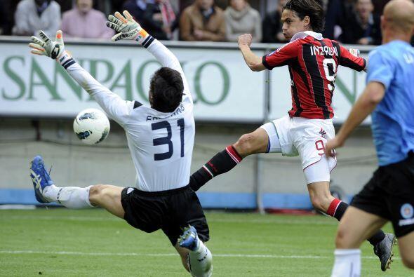 Pero el momento épico se dio con el eterno delantero Filippo Inzaghi.