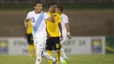 Stheven Robles, autor del gol de Guatemala.
