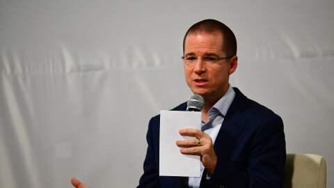 Ricardo Anaya, candidato por la presidencia de México durante un...