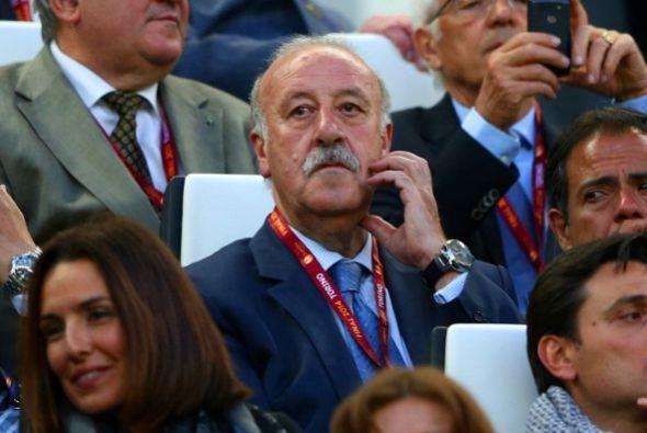 El técnico de la selección española de futbol, Vicente del Bosque, no pe...
