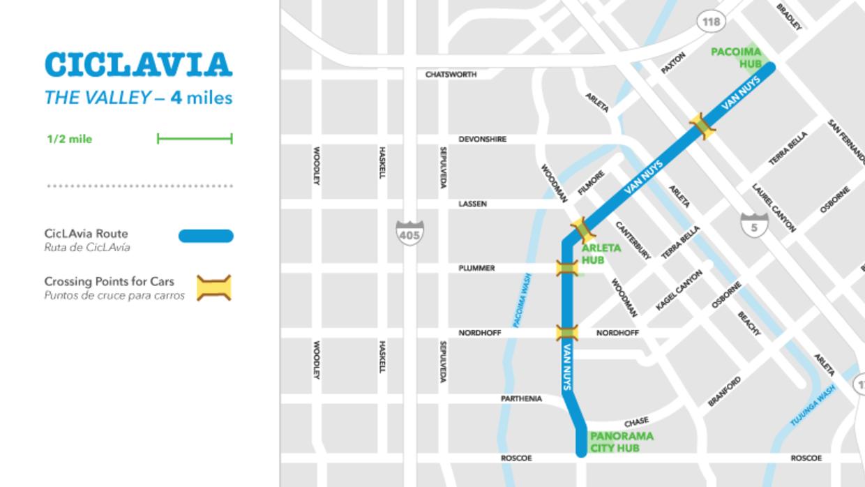El recorrido del CicLAvia será desde Pacoima hasta Panorama.