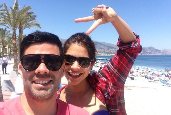Espinoza estuvo varios días disfrutando del calor de Ibiza.