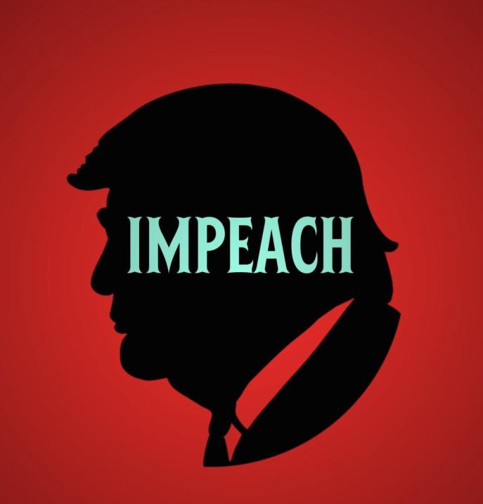 El logo de la movilización por la destitución de Trump.