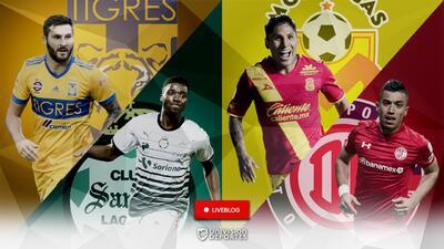 En vivo: Tigres 2-0 Santos y Monarcas vs. Toluca en los cuartos de final de ida