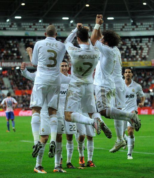 Real Madrid festejó un nuevo triunfo. Esta vez fue ante el Sporting de G...