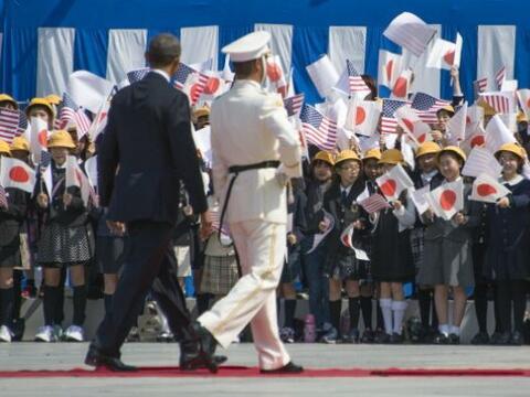 Japón le ha dado una bienvenida pacífica al presidente Obama.