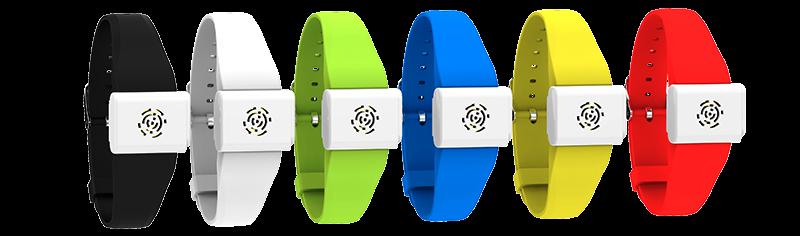 Estas pulseras de silicona vienen con un dispositivo que emite frecuenci...