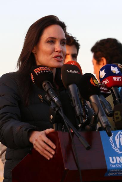 """En su papel de embarajadora de buena voluntad de la ONU sentenció: """"Es m..."""