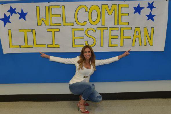 Lili recibió una bienvenida muy grata con este cartel.