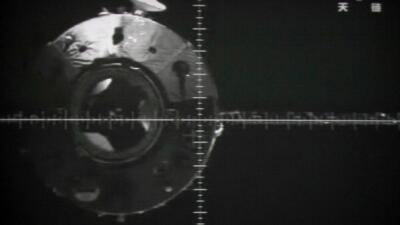 Imágenes tomadas por el Shenzhou-9 al acercarse a la estaci&oacut...
