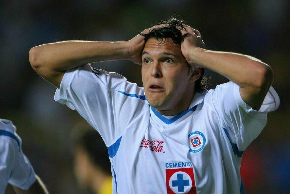 La pobre contundencia de Landín con el Cruz Azul 7 goles en 16 partidos...