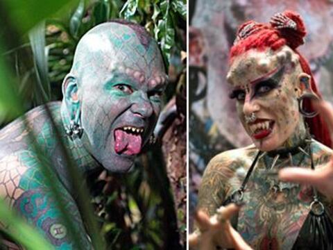 Estos personajes excéntricos buscaron hacer cambios en su cuerpo...
