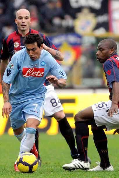 El Nápoles fue a la cancha el Bolonia esperando salir con la victoria y...