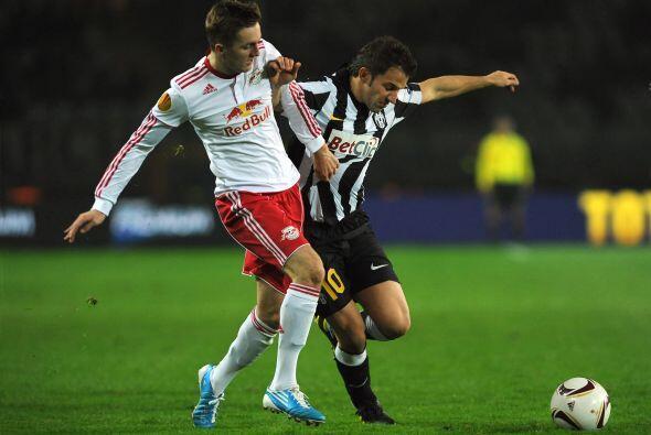 Juventus, también en el grupo del City, enfrentó al Red Bulls Salzburgo.