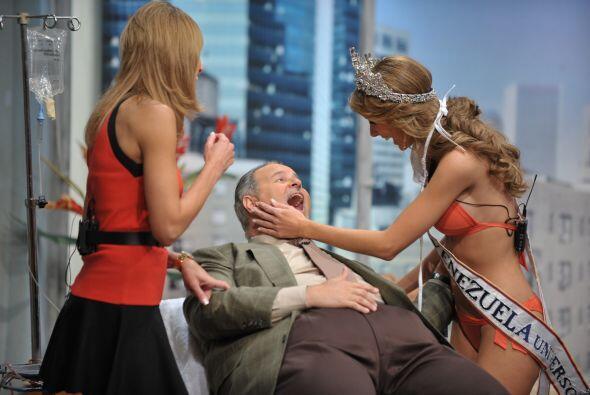 Pero con una mujer tan guapa como Miss Venezuela, debe ser un completo p...
