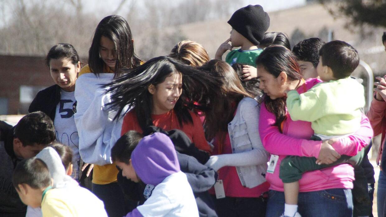 Un grupo de madres inmigrantes detenidas en el centro Berks, Pennsylvani...