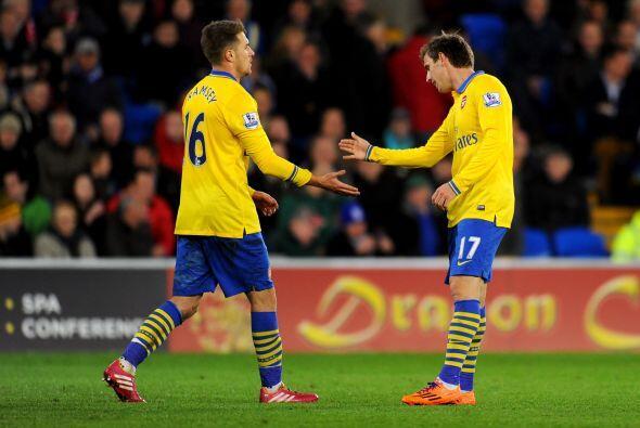 Unas horas después de que Ramsey marcara un doblete al Cardiff City en l...